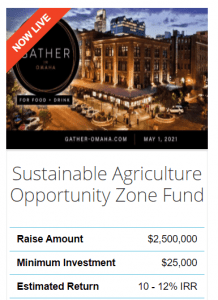 Sustainable Agriculture Opportunity Zone Fund