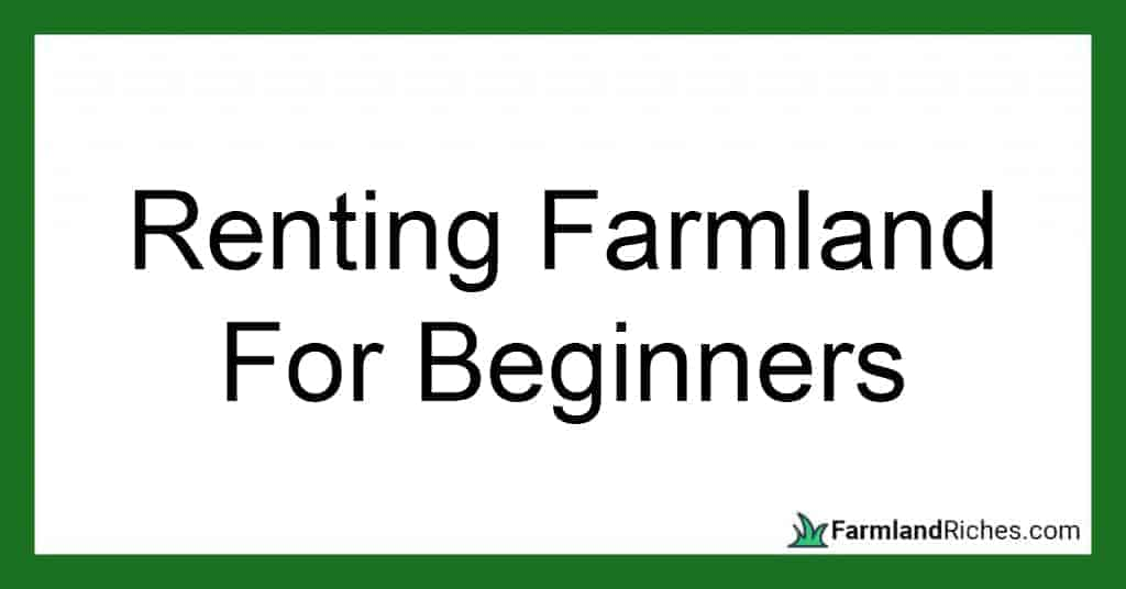 how to rent farmland